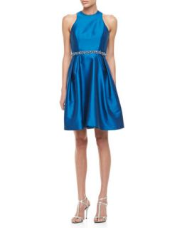 Womens Sleeveless Belted Party Dress, Sky   ML Monique Lhuillier   Sky (14)