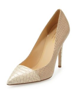 leann snake print pointy toe pump, natural   kate spade new york   Natural (36.