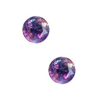 Alexandrite Simulated Unset Loose Gemstone 8mm Round (Qty2)