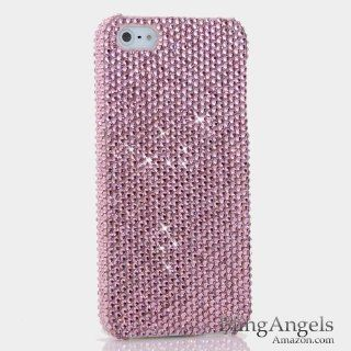 BlingAngels� iphone 5 Bling Case Cover Faceplate Swarovski Luxury Diamond Light Baby Pink Crystal Design (100% Handcrafted by BlingAngels with Pink Carrying Pouch) Cell Phones & Accessories