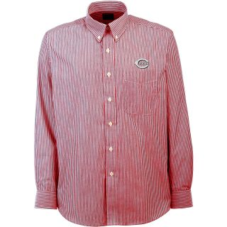 Antigua Cincinnati Reds Mens Republic Button Down Long Sleeve Dress Shirt