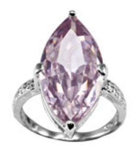 Farah Lavender Solitaire Cubic Zirconia .925 Silver Ring Size 8 Jewelry