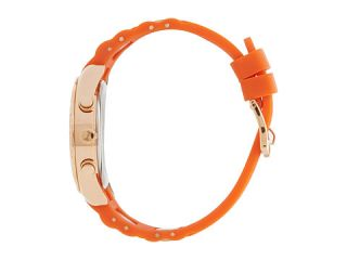 Isaac Mizrahi New York Pave Silicone Chrono Watch Orange