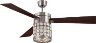 "Craftmade KAP54BNK3 Kapiz Nickel Flush Mount 54"" Ceiling Fan w/ Light & Wall & Remote Control"