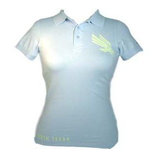 North Texas Mean Green Womens Polo Dress Shirt (Sky Blue / S)  Sports & Outdoors