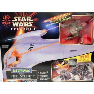 Star Wars Episode 1 Electronic Naboo Royal Starship Blockade Cruiser Playset Toys & Games