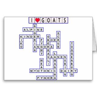 TEMPLATE PUZZLE GOATS GREETING CARD