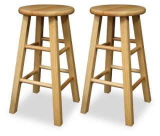 Winsome Wood 24 Inch Square Leg Counter Stool   Set of 2   Bar Stools