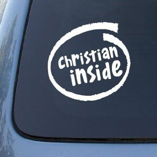 CHRISTIAN INSIDE   Car, Truck, Notebook, Vinyl Decal Sticker #1970  Vinyl Color White Automotive