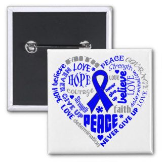 Arthritis Awareness Heart Words Buttons