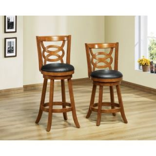 Monarch Atwood 24 in. Swivel Counter Stools   Set of 2   Bar Stools