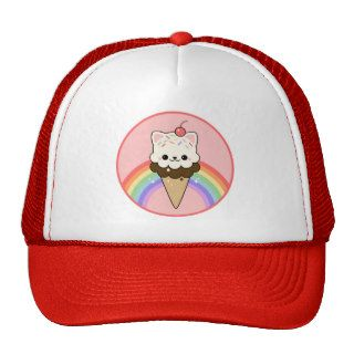 Cute Kitty Ice Cream Trucker Hat
