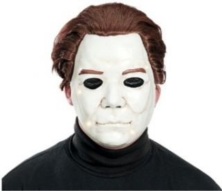 Paper Magic Men's Michael Myers Mask One Size Fits Most White and Brown Clothing