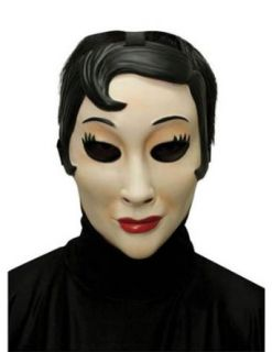 Scary Masks Emo Girl Plastic Mask Halloween Costume   Most Adults Clothing
