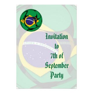 Brazil 1 custom invitations