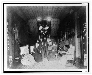 Historic Print (L) [Mrs. Distin, Mrs. Conger, Mr. and Mrs. Bruce Goodfellow, Mrs. Logan, and Mrs. Lucket se