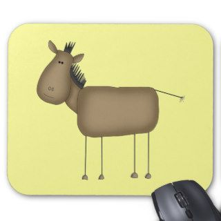 Stick Figure Horse Tshirts and Gifts Mouse Mat