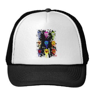 Lucha Libre Mask Mexican Wrestling Paint Splash Trucker Hat