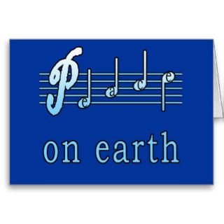 Musical Peace on Earth Holiday Cards