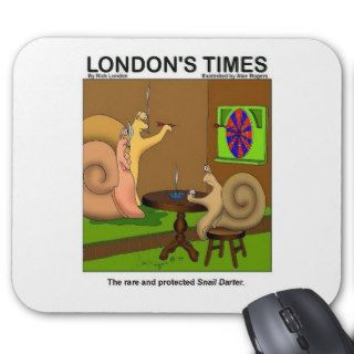 Snail Darter Funny Cartoon Gifts & Tees Mousepads