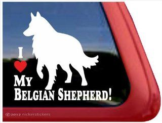 I Love My Belgian Shepherd ~ Belgian Sheepdog Vinyl Window Auto Decal Sticker Automotive