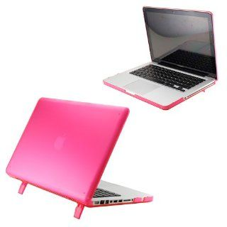 "Hard Shell Matte Transparent Hard Case Cover with Stand for 15"" Model A1286 Aluminum Unibody MacBook Pro (15.4 inch diagonal regular display)   Pink Computers & Accessories"