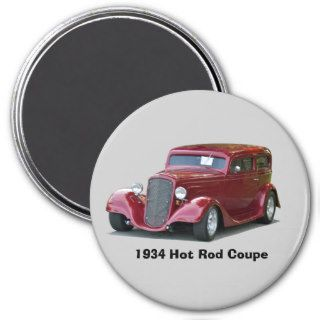 1934 Customized Coupe Hot Rod Refrigerator Magnets