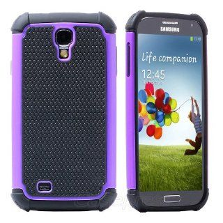 Pc Waterproof Shockproof Dirt Dust Proof Case Cover for Samsung Galaxy S4 I9500 Purple Screen Protector Cell Phones & Accessories
