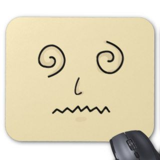 Confused face mouse pad