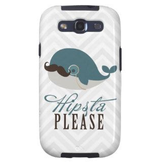 Cute Whale Vintage Hipsta Please Galaxy S3 Cases