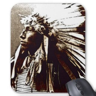CHIEF JAMES LONE ELK MOUSE PADS