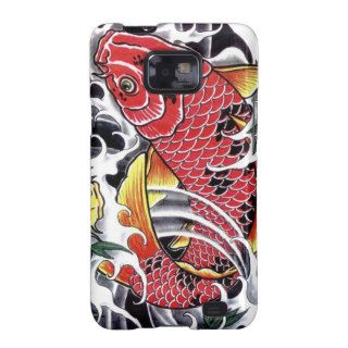 Koi Fish  Japanese tattoo design Samsung Galaxy S2 Cases