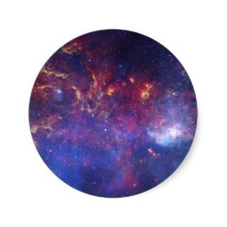 View of the Center of the Milky Way Galaxy Round Stickers