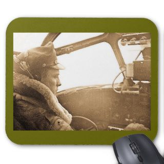 World War II B 52 Bomber Pilot in Cockpit Mouse Pad