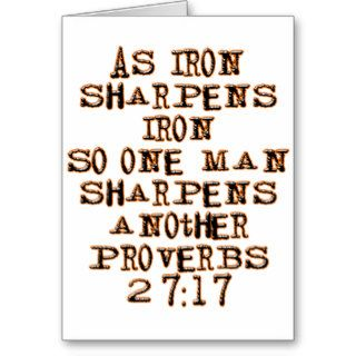 Proverbs 2717 greeting card