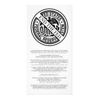 Anti Federal Reserve Logo with Famous Quotes 2 Photo Greeting Card