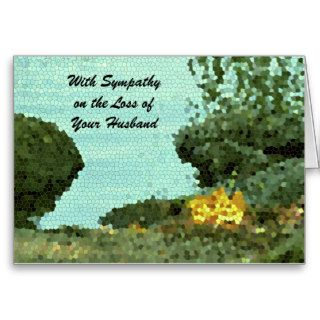 With Sympathy Loss of Husband, Flowers Mosaic Greeting Cards