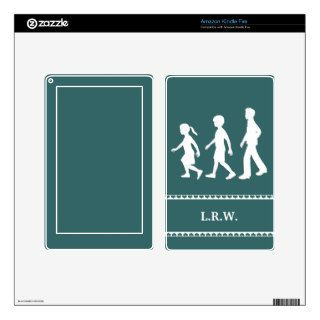 Little Sister, Big Brothers Silhouette Siblings Decals For Kindle Fire