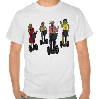 Zombies on Segways, light shirt