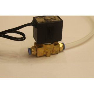 1/4 Solenoid Valve 24v AC Brass Electric Air Water Gas Diesel Normally Closed NPT w/ Hose Fittings Industrial Solenoid Valves
