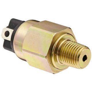"Gems Sensors 213428 OEM Subminiature Pressure Switch with Zinc Plated Steel Fitting, 100VA, 15 60 psi Pressure, 1/4"" NPT Male, SPST/Normally Open Circuit Industrial Flow Switches"