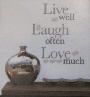 Main Street Wall Creations Live Well Laugh Often Love Much Wall Decal Sticker   Wall Decor Stickers