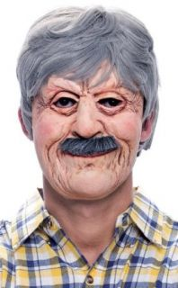 Paper Magic Funny Old Wrinkled Man Stanley Halloween Costume Mask Clothing