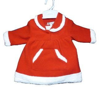 Fleece Christmas Dress with White Trim for Baby Girl 6 9 Months  Infant And Toddler Apparel  Baby