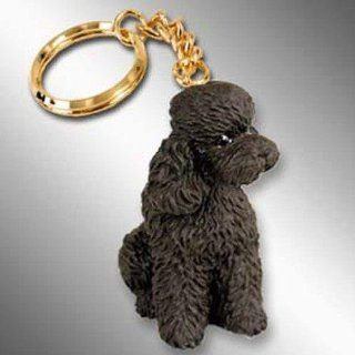 Poodle, Chocolate, Sport Cut Tiny Ones Dog Keychains (2 1/2 in)