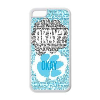 Popular quote Okay cute bear paw design TPU case for Iphone 5c Cell Phones & Accessories