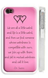 "Apple ipod touch 5 5th Generation case hard cover customized personalized Dr. Seuss Weirdness / Love Quote   Pink ipod touch 5 5th Generation case Cover with Quote   ""We're all a little weird. And life is weird. And when we find someone whose weir"