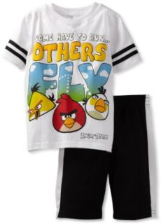 Angry Birds Boys 2 7 Others Fly Tee and Short Set, White, 3T Clothing