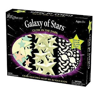 Over 60 Glow In The Dark Shapes And 200+ Glow In The Dark Adhesives To Create Your Own Glow In The Dark Galaxy   University Games Great Explorations Galaxy of Stars Glow in the Dark Wall Decoration Kit Toys & Games