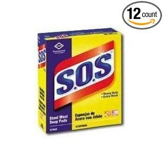 Clorox Pro S.O.S Extra thick Steel Wool Soap Pads, Can Be Used In Institution Settings, 15 pads per box    12 boxes per case. Dust Mop Refill Pads